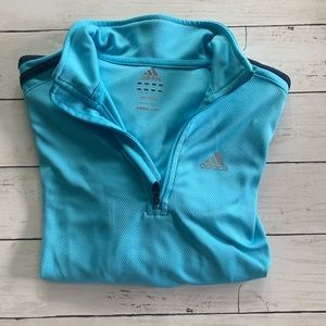 Adidas Track Suit 1/4 Zip Jacket, X-Small